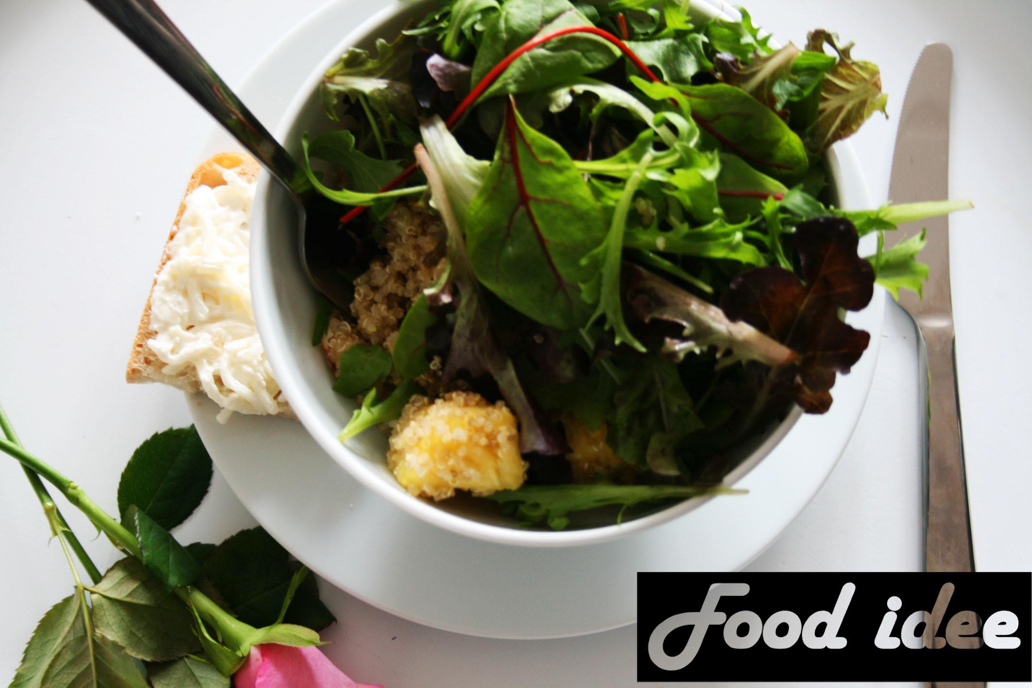 Quinoa salade met kip en ananas