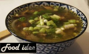 Japanse soep met shiitake